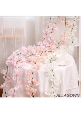 Wedding Cherry Vine String Decoration Hanging Flower Wedding Party Floral Decor Garden Craft Art Decor
