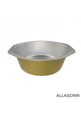 10pcs 130ml84mmX35mm Disposable Golden Round Thick Aluminum Foil Lunch Box