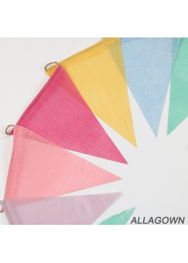 Party Pull Flag Wedding Bunting Banner Single 12.5*17CM Total 12 Pieces