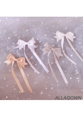 2PCS Sweet And Lovely Long Ribbon Bow