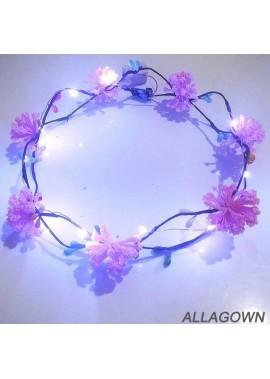 Light Glowing Garland Headdress Dried Flower Props 19CM