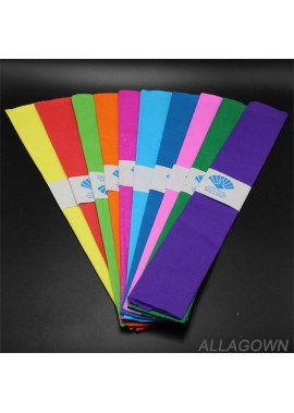 3PCS Colored Crepe Paper 50*100CM