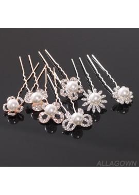4pcs Chuck Hairpin Hair Ornament Flower Arrangement Hairpin