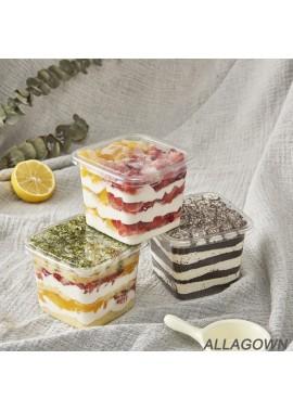 50 Disposable Transparent Plastic Dessert Tiramisu Cups