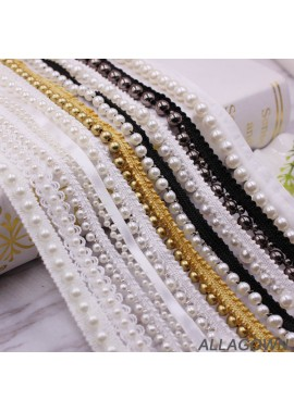 10pcs Pearl Lace Clothing Collar Bag Decoration Dress Jewelry