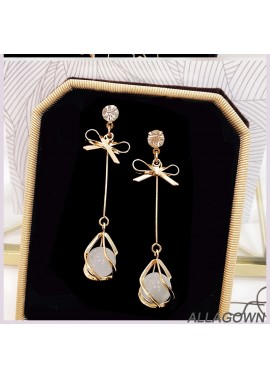Party Earrings Suitable For Short Hair Bands Approximately 5.5CM Long And 1.2CM Wide