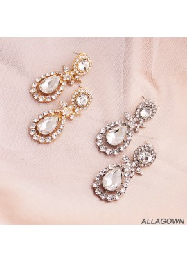 Classic Earrings Alloy Diamond Earrings Size 2*4.5CM