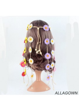 Daisy Flower Headband Sun Flower Headdress Headband Floral belt