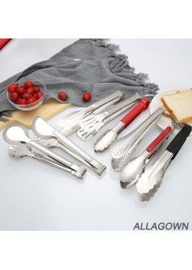 10PCS Stainless Steel Food Clips Large Silicone Bread Clip: Length 35CM Weight 157G Undefined