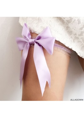 Bridal Lace Bow Garter