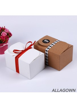 10pcs White Pair Of Kraft Paper Box Packaging