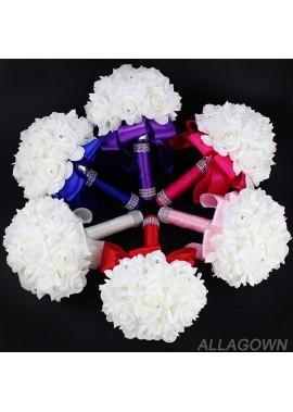 Wedding Bouquet Roses Bride Bridesmaid Wedding Holding Bouquet 18CM*24CM