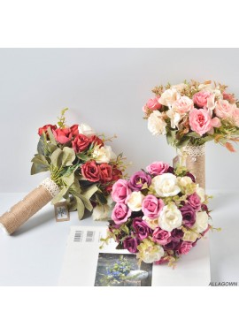 Bride Holding Flowers Wedding Sisters Group Holding Bouquets Of Flowers 28CM Long And 23CM Wide