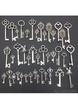 2PCS Packs Of Retro Key Pendant DIY Jewelry