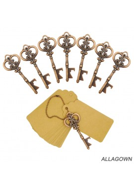 20PCS Key Beer Bottle Opener Antique Zinc Alloy 8.4×3.4CM