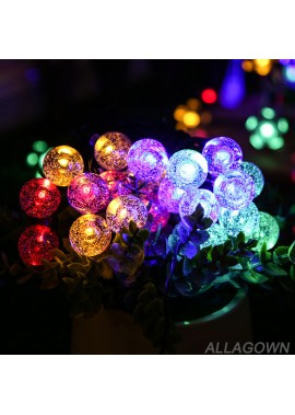 Solar Light String Water Drop Outdoor Decorative Lamp 5 Meters 20 Lights (1.8CM Bubble Ball) Solar Fairy Lights
