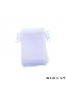 Hot Selling Jewelry Bag Bunch Pocket 10cm x15cm White Silk Bag-25pcs