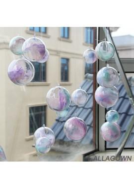 10PCS Transparent Plastic Ball Hollow Ball Hanging Ball Ornament 4CM