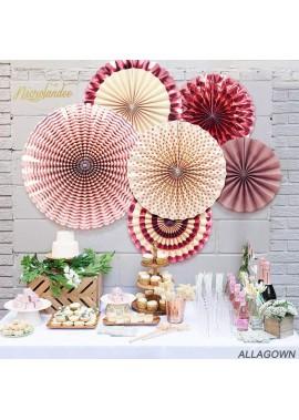 5PCS Paper Flower Fan Set