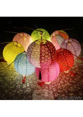 2PCS Openwork Paper Lantern 8Inch