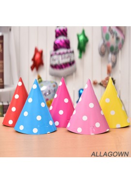 5PCS Cute Party Paper Hat Decorations 20*13CM