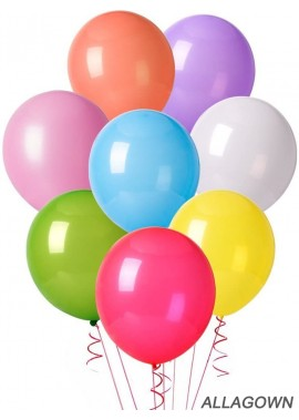 100pcs Assorted Color Party Balloons Supplies, 12 Inches 10 Kinds of Multicolor Rainbow Latex Balloons