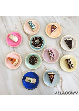16pcs New Disposable Party Plate 4 Inch Disc