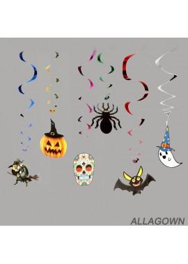 2PCS Halloween Decoration Supplies Hanging Coil Spiral 13*90CM