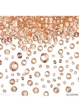 5000pcs Rose Gold Diamond 4-10mm Rose Gold Pointed Acrylic Diamond