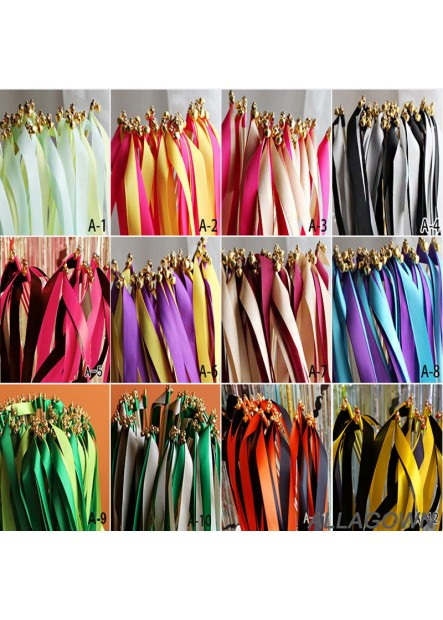 30PCS European And American Wedding Color Ribbon Fairy Stick Ribbon Length 60CM Width 1.5CM