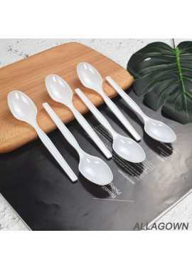 200 Count Heavy Weight Clear Bulk Disposable Plastic Spoons