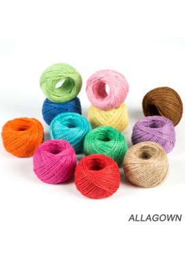 Color Hemp Rope Suit Primary Color Single Bundle Length About 10 Meters Thickness About 2MM