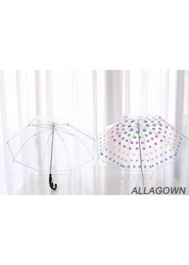 Totes Women's Clear Bubble Umbrella 60CM Long Open Diameter 68CM