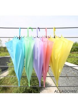 Color Transparent Environmental Protection Umbrella Length 72CM Open Diameter 91CM
