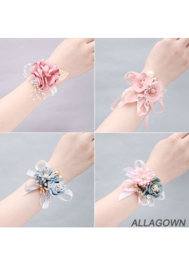 Wrist Flower Bridesmaid Sister Hand Flower