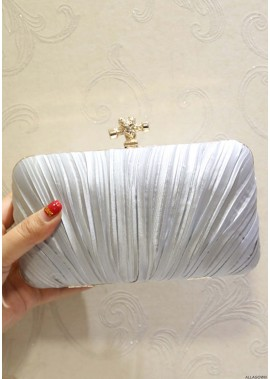 New Pleated Velvet Cloth Square Slung Dinner Handbags