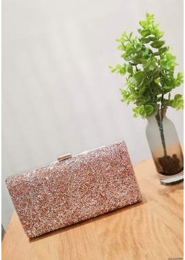 High-Grade Shiny Rhinestone One Shoulder Diagonal Handbags