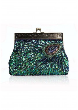Fine Beaded Bag Retro Handbags