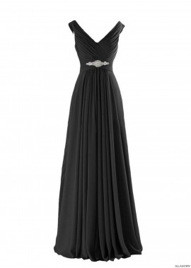 Chiffon Waist Bridesmaid's Dress and Prom Dresses Online