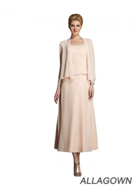 Allagown Mother Of The Bride Tea Length Dresses With Jacket