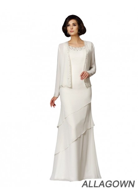 Allagown Cheap Mother Of The Bride Dress Old Women Floor Length Dresses