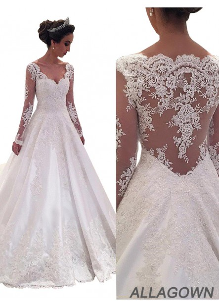 Allagown 2021 Beautiful Best Selling A Line Wedding Dresses