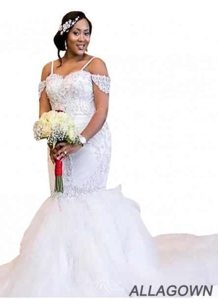 Allagown 2021 Ball Gowns Bridal Gowns For Larger Ladies