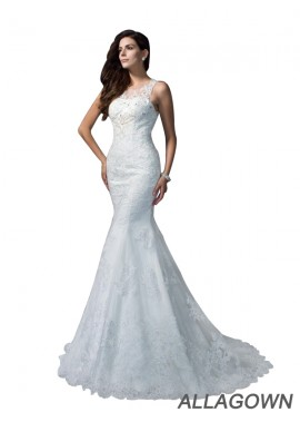 Allagown 2021 Beach Lace Wedding Dresses