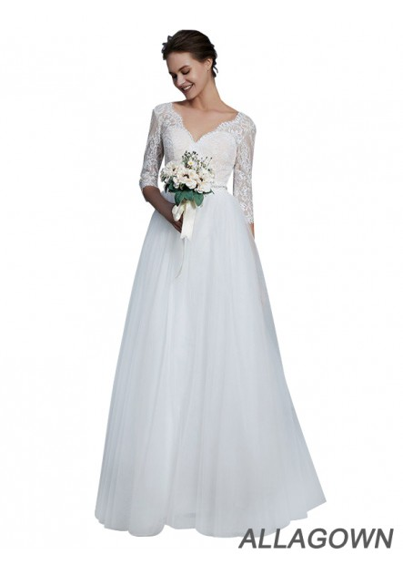 Allagown 2021 Short Sleeves Wedding Dresses and Gowns Loved By Women