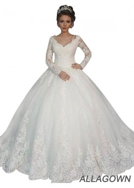 Allagown 2021 Wedding Dresses With Sleeves