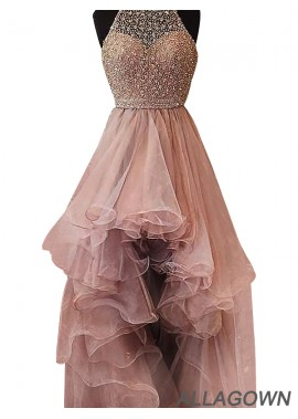 Allagown High Low Long Prom Evening Dress
