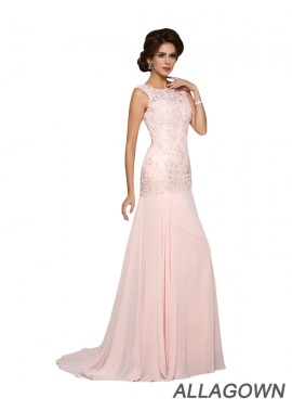 Allagown Mother Of The Bride Dress Long Pink Prom Dress