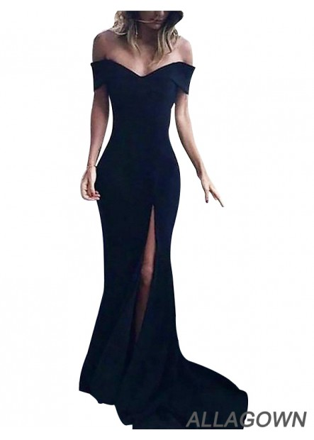 Black Long Prom Evening Formal Dresses For Women