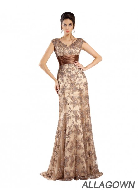 Long Women Formal Dress With Lace Mother Of Bride